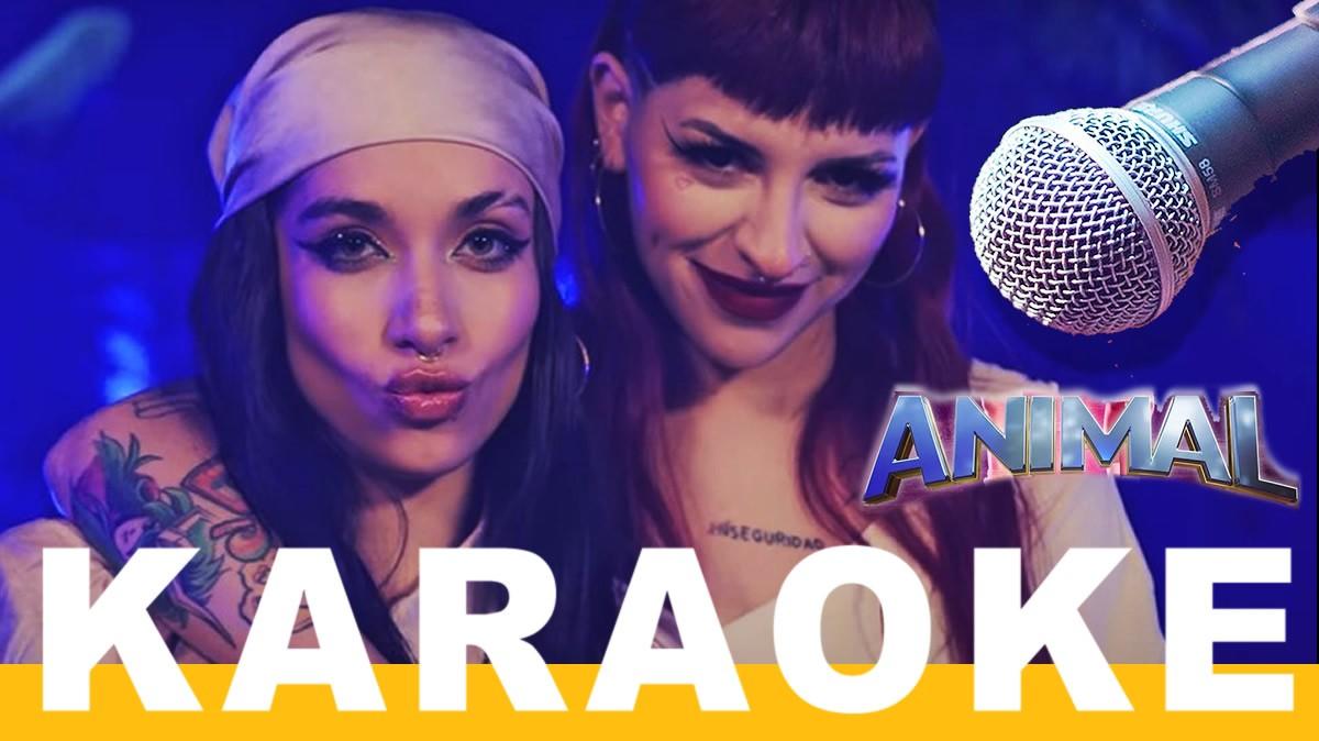 maria becerra y cazzu animal karaoke letra istrumental
